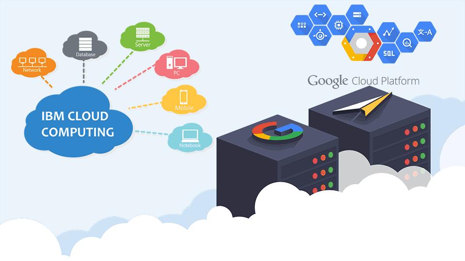 Google cloud vs IBM Cloud illustrated image