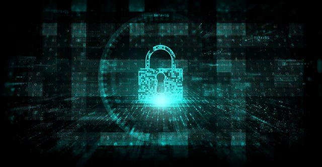 Image showing a datacenter security digital padlock